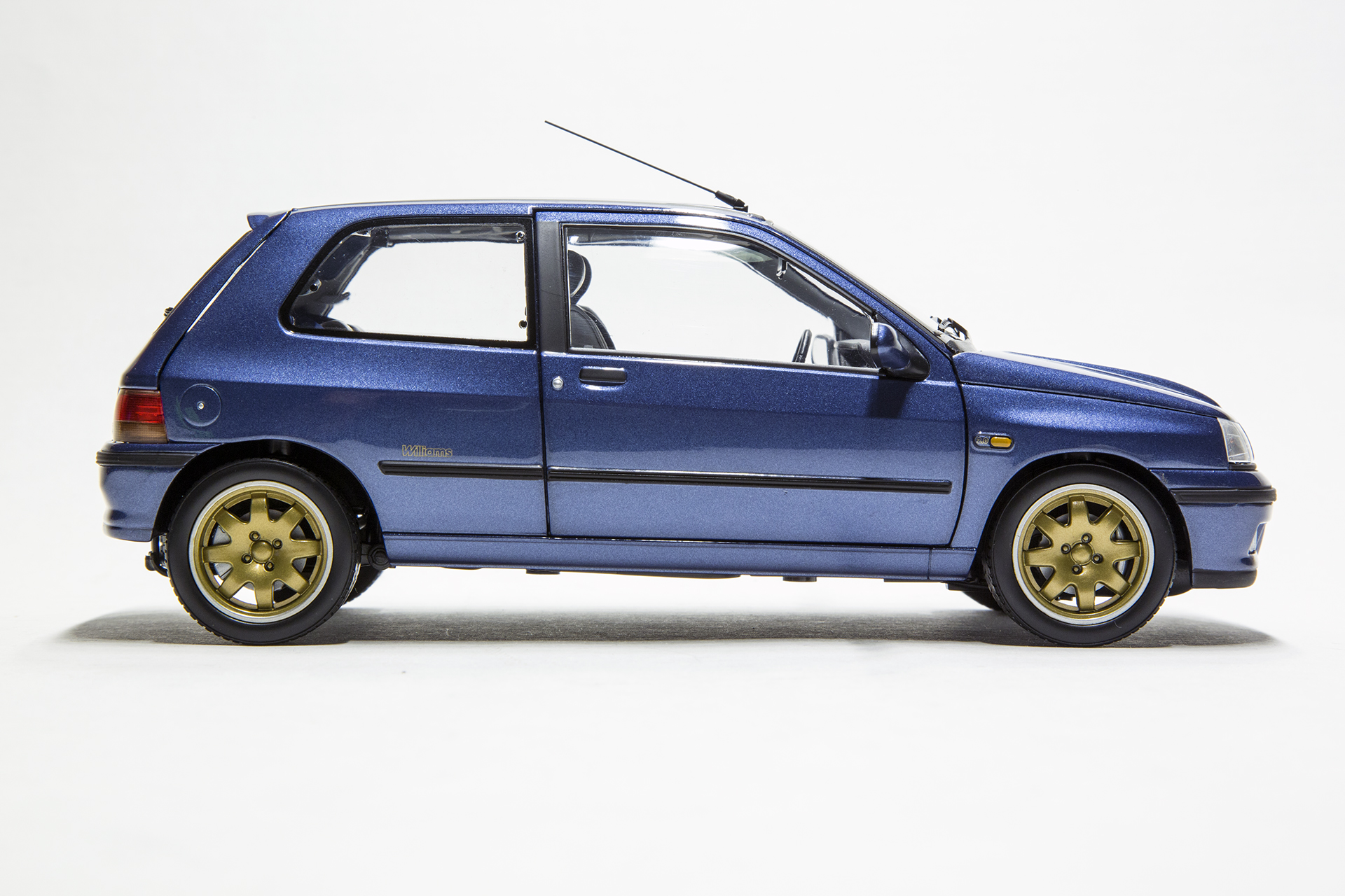 1 18 scale diecast model cars renault clio williams blue norev 185230. Black Bedroom Furniture Sets. Home Design Ideas